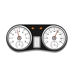 car dashboard on a white background vector image