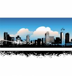 cityscape background urban art vector image vector image