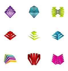 logo design elements set 12 vector image