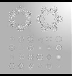 oriental silver pattern vector image vector image