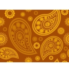 Seamless pattern in gold and yellow vector image vector image