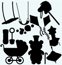 Set of childrens subjects vector image vector image