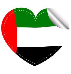sticker design for arab emirates flag vector image vector image