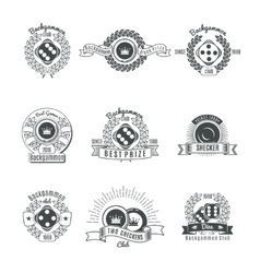 Backgammon Clubs Vintage Style Emblems vector image vector image