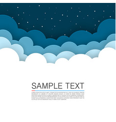 background cloud cover night sky background vector image vector image