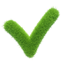 green grass checkmark vector image