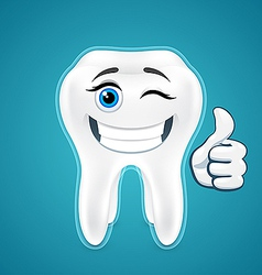 Happy protected human teeth vector image vector image