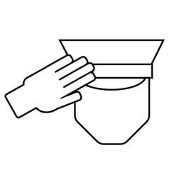 icon of a saluting serviceman vector image