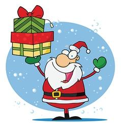 Jolly Christmas Santa vector image vector image