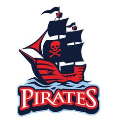Pirate vessel mascot vector