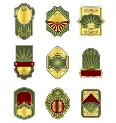 set of vintage golden labels vector image vector image