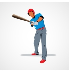 Baseball player ball vector image vector image