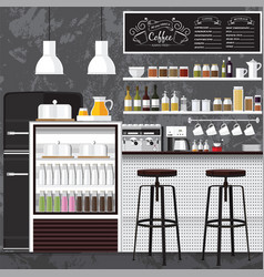 best coffee shop vector image vector image