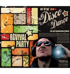 disco party vector image vector image