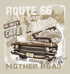 king of mother road vector image vector image