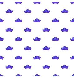 Pirate hat pattern cartoon style vector