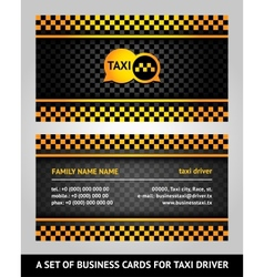 Visiting cards - taxi vector image vector image