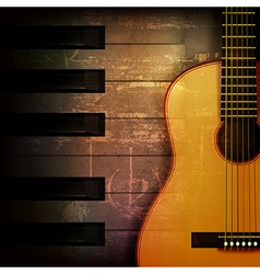 abstract brown grunge music background with vector image vector image