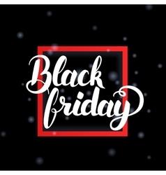 Black Friday in Frame vector image