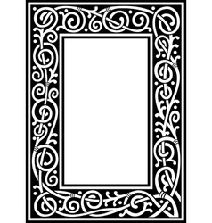 fancy frame vector image vector image