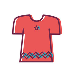 fashion clothes with beauty style vector image