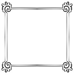 Frame element for design vector