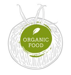 Label tomato fresh natural eco food hand drawn vector