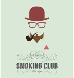 smoking club card vector image