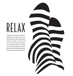 A relaxation graphic vector