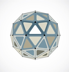 Abstract low poly object with black lines and dots vector