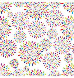 abstract splash drop pattern firework flowers or vector image