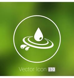 Abstract symbol of a drop water symbol vector image