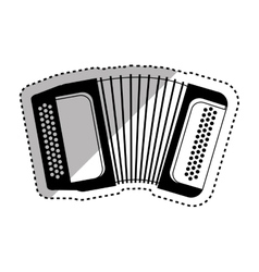 Accordion music instrument vector image