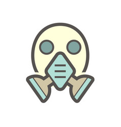 air purifying respirator or gas mask icon vector image