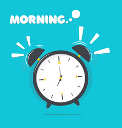 alarm clock with morning vector image