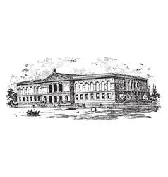 Art institute or school of the vintage vector