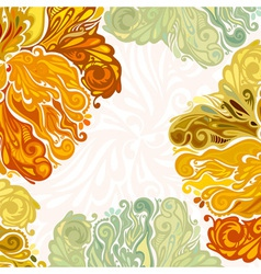 Autumn leaves floral design element vector