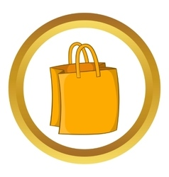 Bag with handles icon vector