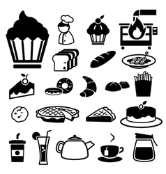 Bakery icons set vector image