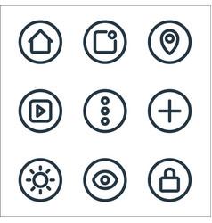 Basic ui line icons linear set quality line set vector
