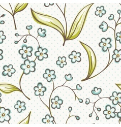 Beautiful seamless pattern with forget-me not vector