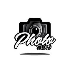 camera photography studio logo logotype design vector image