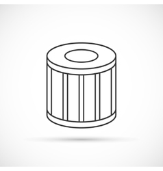 Car oil filter outline icon vector