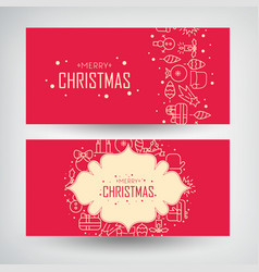 Christmas design concept banners set vector