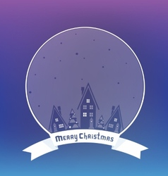 Christmass village design with lettering vector