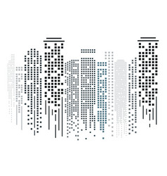 cityscape silhouette in flat design on white vector image