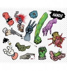 Comic book hands vector