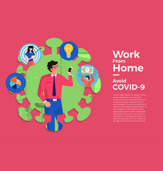 Covid19-19 work from home 07 vector