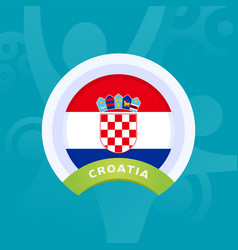 croatia flag european football 2020 tournament vector image