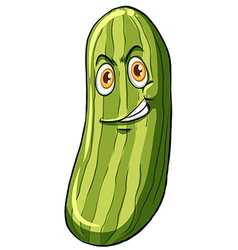 Cucumber with a face vector